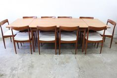 Mid- Century 10 Seater Dining Suite - The Vintage Shop