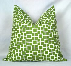 Pillow Cover Cats Cradle in Grass Green by The Modern Place ...
