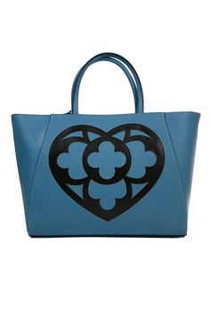 """leather processing in Saffiano style, bag with """"laser & embroidery"""""""
