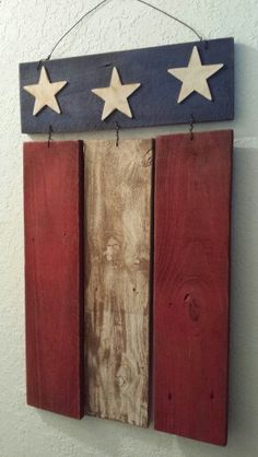 Flag made from old fence boards
