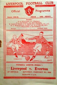 Liverpool v Everton match programme Liverpool Home, Liverpool Football Club, Bob Paisley, Bill Shankly, Merseyside Derby, Football Officials, This Is Anfield, Laws Of The Game, Association Football