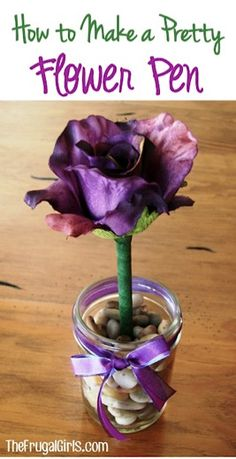 How to Make a Pretty Flower Pen/May Day present
