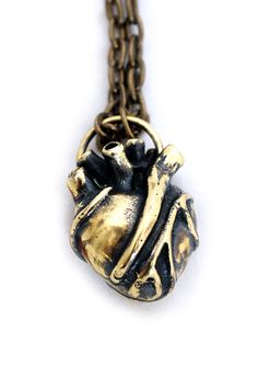 Jan Hilmer Anatomical Brass Heart Necklace – FIVE AND DIAMOND