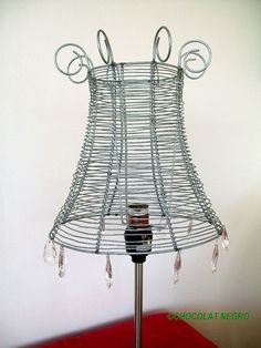 RECYCLED WIRE LAMPSHADE urban design. $59.00, via Etsy.