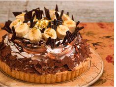 Marble Chocolatマーブル・ショコラ Cheese tart topped with chocolate sponge + whole banana + chocolate cream marble. *** La Maison - 〒160-0022 東京都新宿区新宿3-38-2 ルミネ新宿 ルミネ2 5F