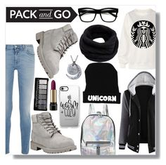 """Black n grey"" by lory-x ❤ liked on Polyvore featuring Givenchy, Timberland, Casetify, Helmut Lang and Lancôme"