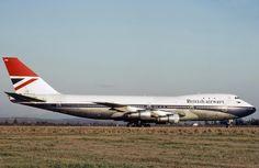 Vintage British Airways Boeing 747-100