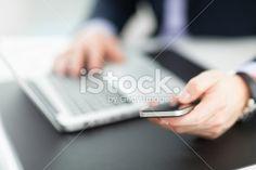 Businessman using smart phone Royalty Free Stock Photo