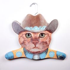 Fab.com | Cowboy Cat Hanger Set Of 2