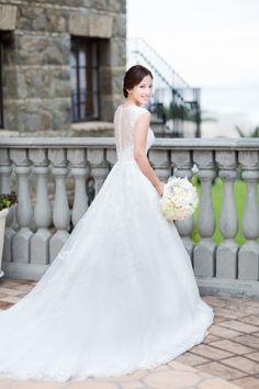 This dress! http://www.stylemepretty.com/little-black-book-blog/2015/04/24/elegant-bel-air-bay-club-spring-wedding/ | Photography: Koman - http://komanphotography.com/
