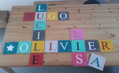 Thing 1, Scrabble Letters, Wood Letters, Teal, Painted Wood, Hand Made, Gaming