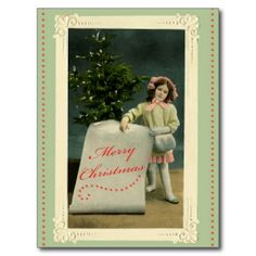 To My Angel Postcard #vintage #card #postcard #holiday #Christmas #sweet #mail #angel