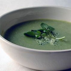Zucchini-Buttermilk Soup with Watercress Pesto | MyRecipes.com #MyPlate #vegetable