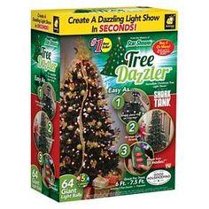 Star Shower Tree Dazzler Christmas Tree Light Show by BulbHead Christmas Light Displays, Led Christmas Lights, Christmas Decorations, Holiday Decor, Christmas Things To Do, Tree Dazzler, Ball Lights, String Lights, Christmas Nativity