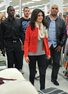 Selena Gomez is so awesome! She took the first five fans that arrived at the Kmart in White Plains, New York shopping for her clothing line, Dream Out Loud. November 11, 2012.