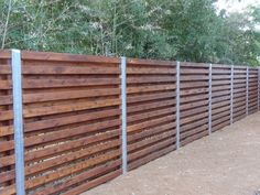 cedar shadowbox fence with 4 in steel/zinc posts - installed in Feb 2013 in 78704. The fence is gorgeous. | Yelp