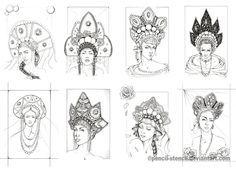 My kokoshnik collection by Pencil-Stencil on deviantART Historical Costume, Historical Clothing, Russian Folk, Russian Fashion, Folk Costume, Tiaras And Crowns, Headdress, Costume Design, Character Art