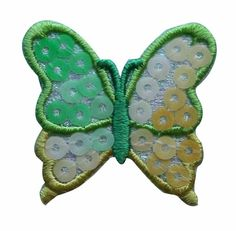 ID #2029 Butterfly Insect Sequin Iron On Badge Applique Patch #Unknown