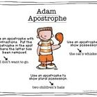 "Meet Adam Apostrophe.  He's the newest addition to my ""Meet the Puncs"" anchor chart freebie. If you don't already have a copy of the poster set, yo..."