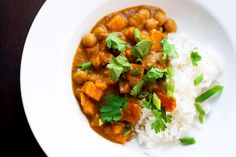 Slow cooker African peanut stew recipe, yummy,subbed a packet if Truvia for brown sugar but would totally omit sugar next time, plenty sweet enough with the sweet potatoes