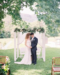 Plantation style ceremony in the hills. Byron loves fawn. The one day house. Poppy and fern. Jennifer Gifford designs. Wil valor.