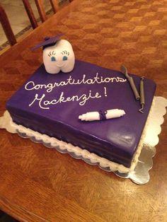 Dental hygienist graduation cake
