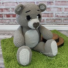 The name is Bear, Ted E. Bear! Everyone will love this super soft, huggable, lovable bear. The perfect gift for any occasion and works up quick with Bernat Blanket Yarn.