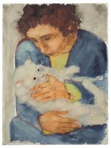 Max Kaus, Frau mit Katze