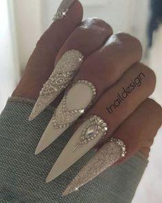 Glam Nails, Bling Nails, Beauty Nails, Fun Nails, Sparkle Nails, Bling Nail Art, Glitter Nails, Glitter Eyeliner, Glitter Force