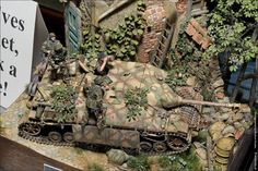 """""""In Position on Hill 112"""" 1/35 scale. By Volker Bembennek. #diorama"""