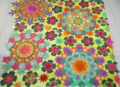 My millefiori is completed!!!!! Ballet quilt !!! #millefiori