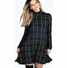 boohoo Checked High Neck Swing Dress - blue azz15460 Its all hail the high neck this season, so tick off two trends in one with this tartan swing dress , featuring a signature fluid style for that no-effort finish! Wear it with chunky ankle boots , a fe http://www.comparestoreprices.co.uk/dresses/boohoo-checked-high-neck-swing-dress--blue-azz15460.asp