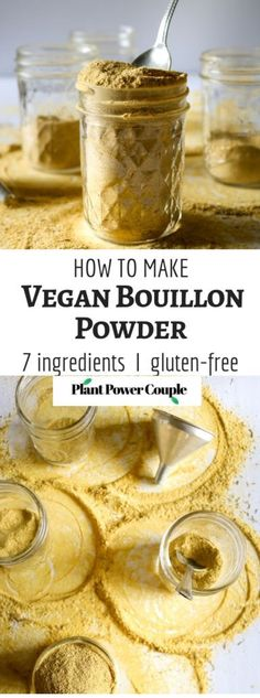 Life-Changing Chicken (less) Bouillon Powder This homemade vegan bouillon powder is easy to make and a dead-on match for the chicken broth w. Vegan Recipes Videos, Vegan Recipes Easy, Whole Food Recipes, Vegetarian Recipes, Vegan Ideas, Dinner Recipes, Vegan Soups, Meal Recipes, Veggie Recipes