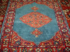 """Small Persian Bijar, exquisite colors. 3'1"""" x 3'6"""" On approval. From Paradise Oriental Rugs"""