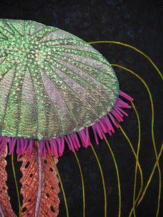 """Medusa"", close-up, by Betty Busby.  ""Deep Spaces"" exhibit, La Conner, Washington"