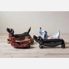 Dog Figurines Set Of 4 now featured on Fab.