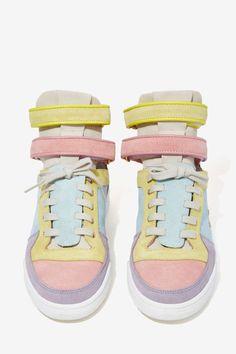 Chiara Ferragni Kimye Suede Sneaker - Pastel Multi - Shoes   High-Tops   Flats   Shoes