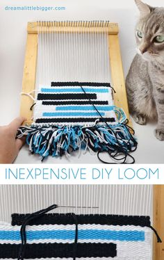 DIY loom out of stuff you probably already have lying around!