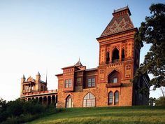 """This is the home of the great Hudson River School painter Frederic Church. He named his home Olana. It was a fine example of Victorian-era domestic architecture, but Church incorporated Middle Eastern touches after a trip to Beirut, Jerusalem and Damascus. The result is a haute bohemian fantasy - part folly, part delightful home that he called """"Persian, adapted to the Occidental""""."""