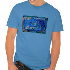 abstract three mens tee shirt
