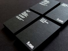 Really black cards with bold,white text just cannot look bad – interesting texture in background just make card more unique.