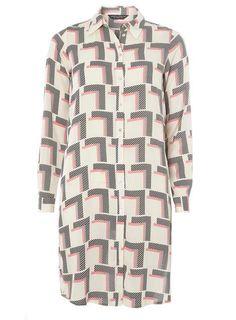 Geo Maxi Split Shirt - Blouses & Shirts - Clothing - Dorothy Perkins United…