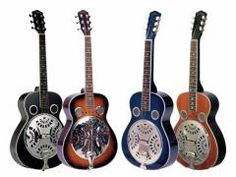 """Johnson Chicago Blues Resonator Black. Well-known for their use in country and blues music, these wood body guitars are modeled after traditional resonator body shapes. The die-cast spider bridge and 10.5"""" Continental cone gives this resonator amazing projection and volume. This model features a spruce or mahogany top, mahogany back and sides, and is available in round or squareneck designs."""