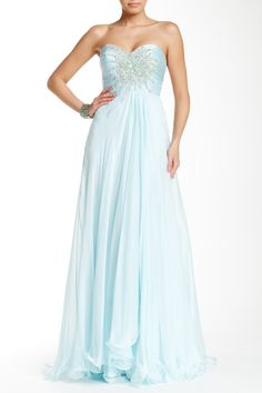 Strapless Layered Embellished Gown by Mac Duggal on @HauteLook