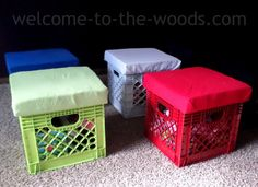 DIY Crate Stools for Toy Storage