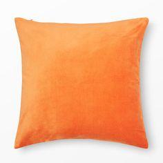 Kuddfodral Sammet, 50x50 cm, orange