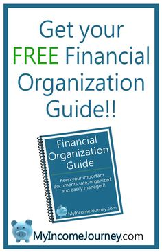 Get your FREE financial organization guide printable! Get your finances in order, start your income journey, and get organized!! #Finance