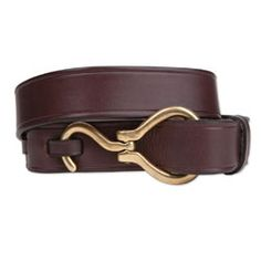 Very appropriate for the horse lovers out there... a gorgeous brown leather belt with folding hoof pick clasp