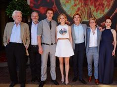 ☆Donald Sutherland◆director Francis Lawrence◇Liam Hemsworth◆Jennifer Lawrence◇Sam Claflin◇Josh Hutcherson and Julianne Moore at he 2014 Cannes Film Festival photocall for The Hunger Games: Part (Photo by David M. Hunger Games Cast, Hunger Games Fandom, Hunger Games Mockingjay, Hunger Games Catching Fire, Hunger Games Trilogy, Josh Hutcherson, Sam Claflin, Liam Hemsworth, Jennifer Lawrence