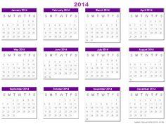 Yearly Printable Calander  Yearly Calendar    Calendar